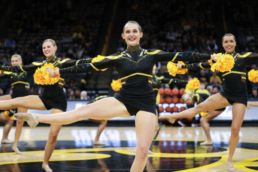 The Iowa Dance Team performs at halftime of the Iowa Hawkeyes game against North Florida Thursday, November 21, 2019 at Carver-Hawkeye Arena. (Brian Ray/hawkeyesports.com)