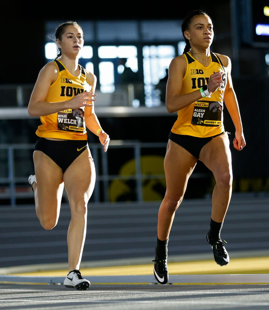 Iowa's Kylie Welch and Alexis Gay