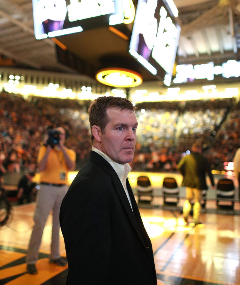 Iowa Head Coach Tom Brands before their meet against Penn State Friday, January 31, 2020 at Carver-Hawkeye Arena. (Brian Ray/hawkeyesports.com)