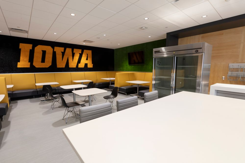 The refueling station Thursday, April 5, 2018 at the renovated Gerdin Athletic Learning Center. (Brian Ray/hawkeyesports.com)