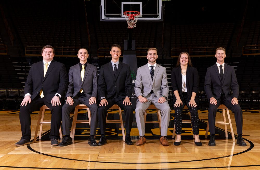 The 2019-2020 Iowa WomenÕs Basketball managers Thursday, October 24, 2019 at Carver-Hawkeye Arena. (Brian Ray/hawkeyesports.com)