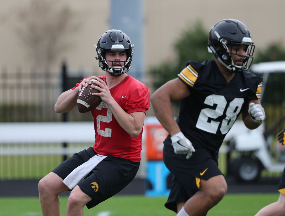 Iowa Hawkeyes quarterback Peyton Mansell (2) during the team's first Outback Bowl Practice in Florida Thursday, December 27, 2018 at Tampa University. (Brian Ray/hawkeyesports.com)