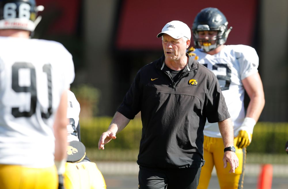 Iowa Hawkeyes defensive line coach Reese Morgan during Outback Bowl practice Thursday, Dec. 29, 2016 at Tampa University. (Brian Ray/hawkeyesports.com)