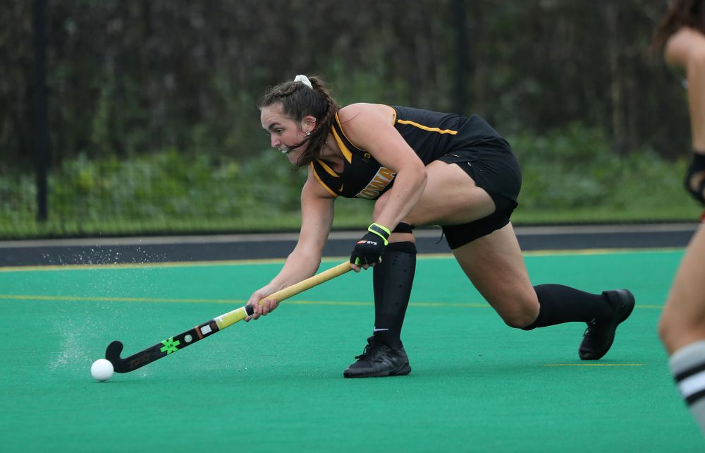 Iowa Hawkeyes defenseman Anthe Nijziel (6) during a 2-1 victory against the Ohio State Buckeyes Friday, September 27, 2019 at Grant Field. (Brian Ray/hawkeyesports.com)