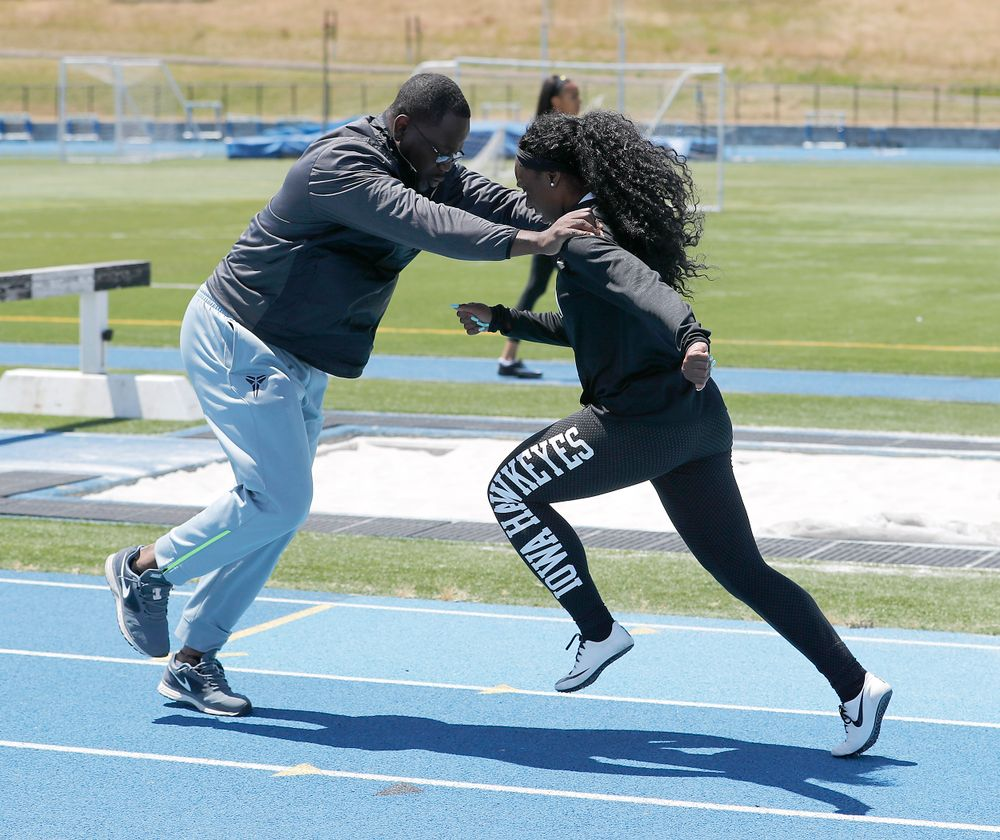 Coach Clive Roberts, Brittany Brown