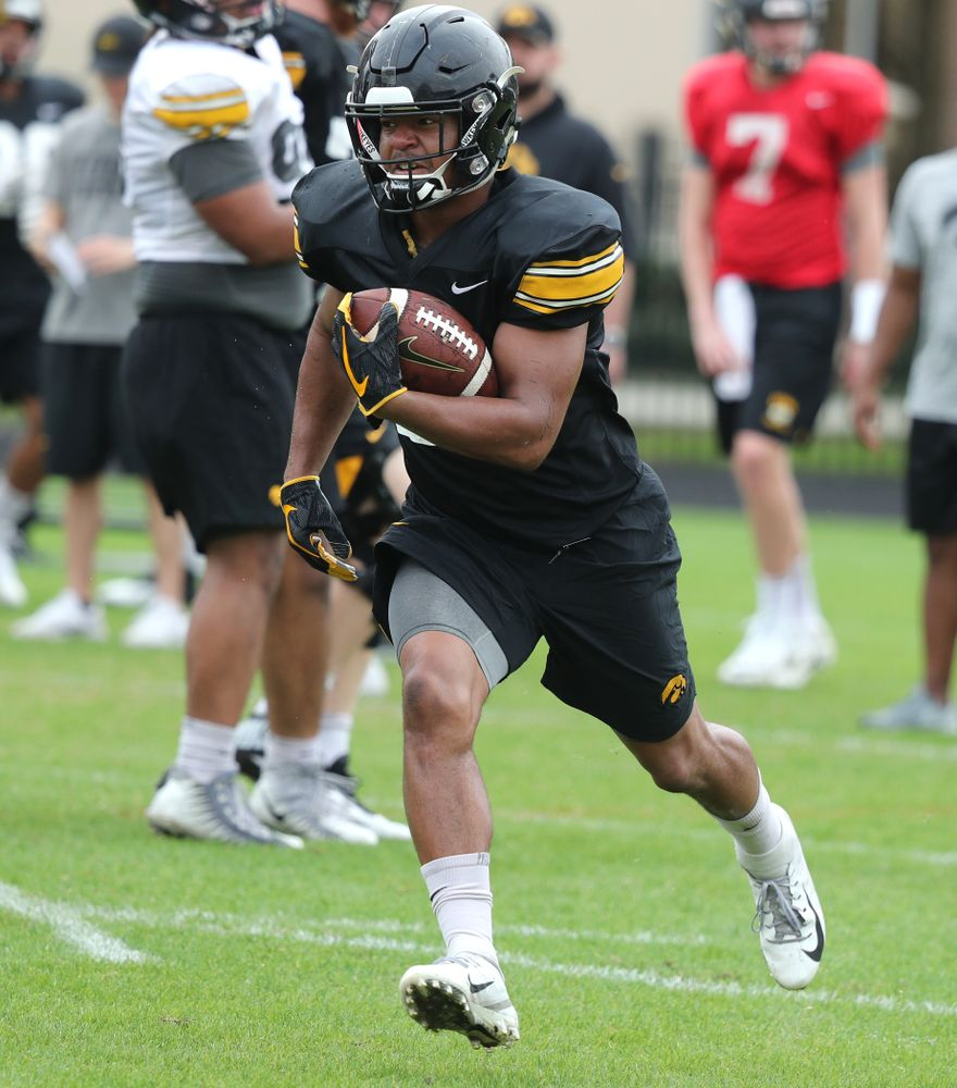 Iowa Hawkeyes running back Ivory Kelly-Martin (21) as the team prepares for the Outback Bowl Saturday, December 29, 2018 at Tampa University. (Brian Ray/hawkeyesports.com)