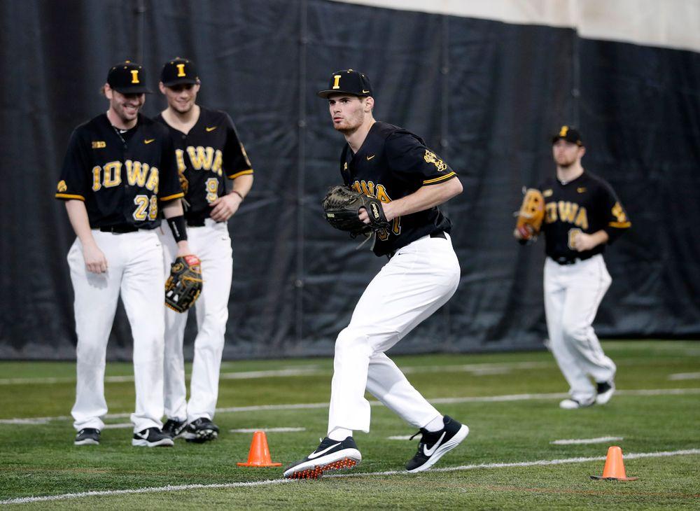 First baseball practice on Jan. 25, 2019. (Darren Miller/hawkeyesports.com)