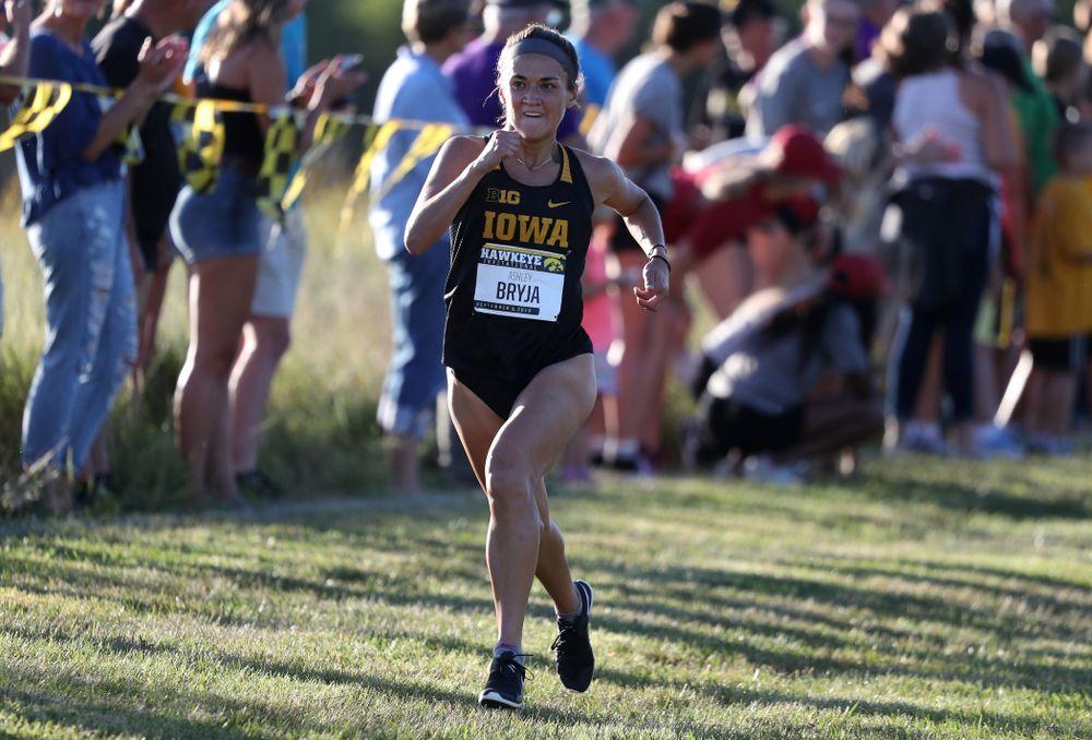 IowaÕs Ashely Bryja runs in the 2019 Hawkeye Invitational Friday, September 6, 2019 at the Ashton Cross Country Course. (Brian Ray/hawkeyesports.com)