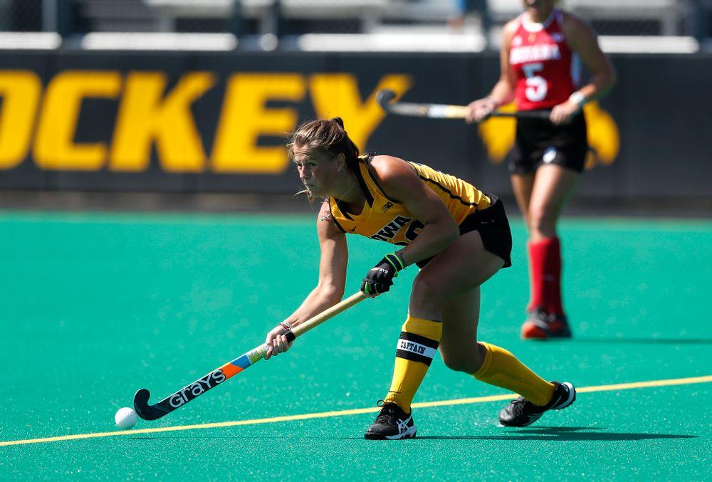 Iowa Hawkeyes Sophie Sunderland (20) against Indiana Sunday, September 16, 2018 at Grant Field. (Brian Ray/hawkeyesports.com)