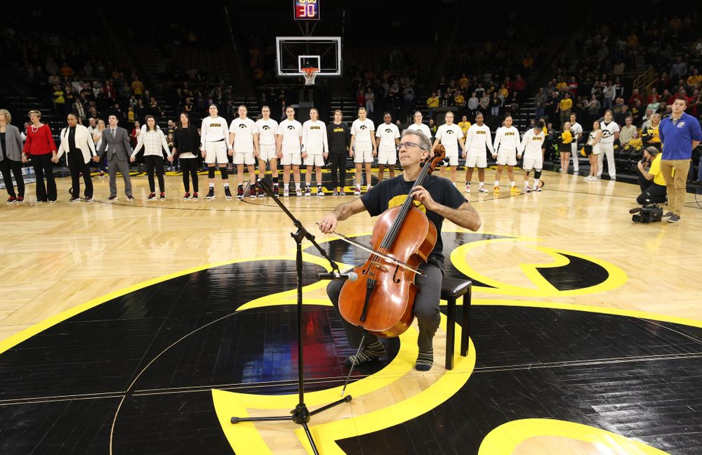 """The """"National Anthem"""" before the Iowa Hawkeyes game against the Purdue Boilermakers Sunday, January 27, 2019 at Carver-Hawkeye Arena. (Brian Ray/hawkeyesports.com)"""