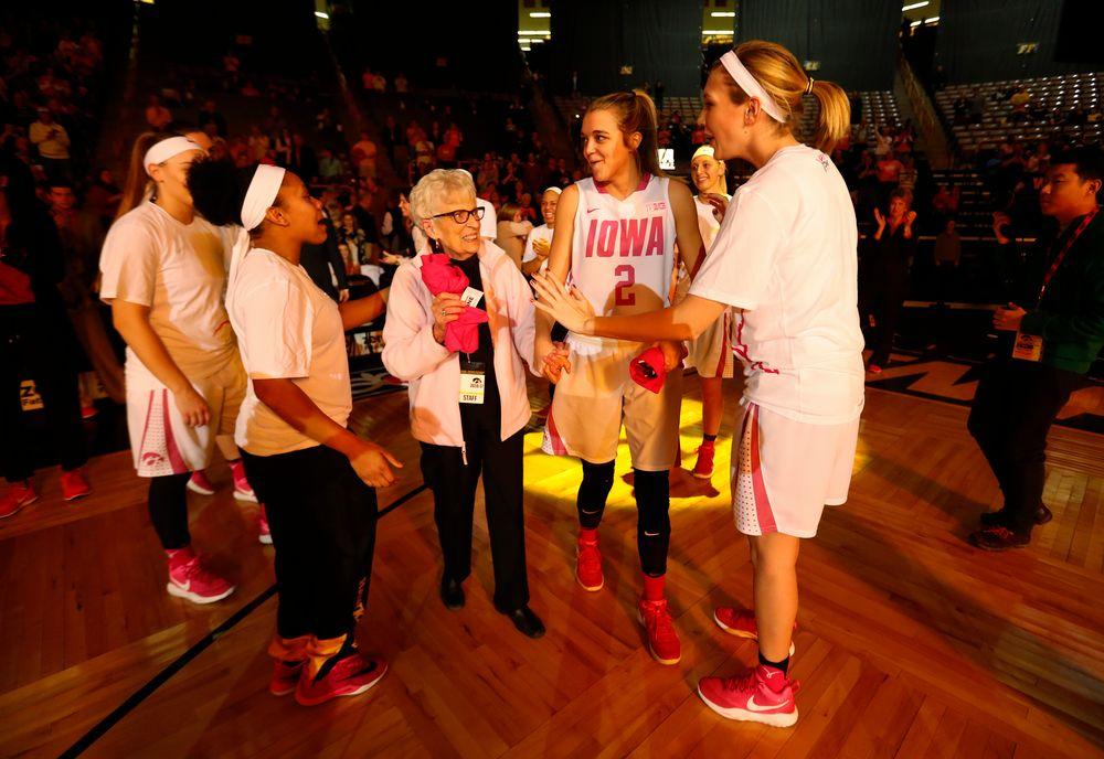 Ally Disterhoft (2), Breast cancer survivor Barb Homewood