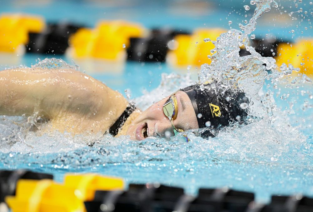 Iowa's Grace Reeder swims the women's 400 yard individual medley preliminary event during the 2020 Women's Big Ten Swimming and Diving Championships at the Campus Recreation and Wellness Center in Iowa City on Friday, February 21, 2020. (Stephen Mally/hawkeyesports.com)
