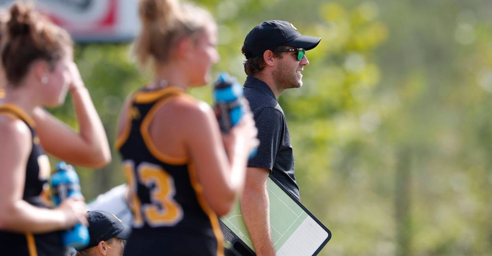 Iowa Hawkeyes assistant coach Michael Boal against Dartmouth Friday, August 31, 2018 at Grant Field.  (Brian Ray/hawkeyesports.com)