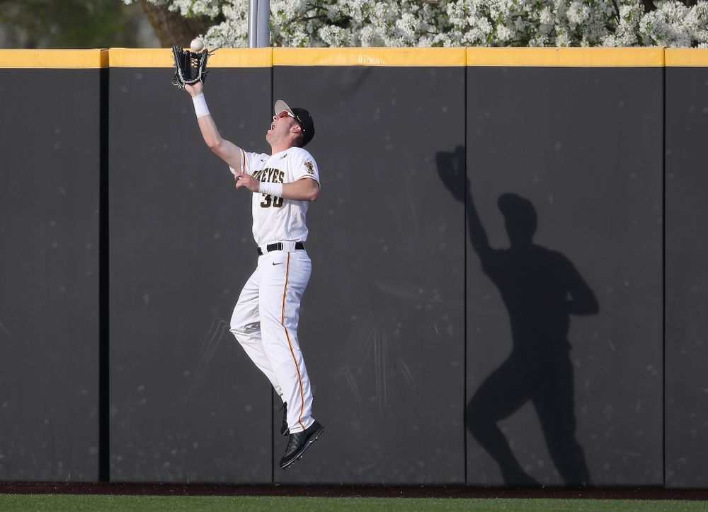 Iowa Hawkeyes Connor McCaffery (30) during game one against UC Irvine Friday, May 3, 2019 at Duane Banks Field. (Brian Ray/hawkeyesports.com)