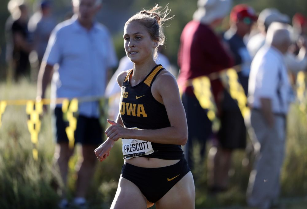 IowaÕs Elise Prescott runs in the 2019 Hawkeye Invitational Friday, September 6, 2019 at the Ashton Cross Country Course. (Brian Ray/hawkeyesports.com)