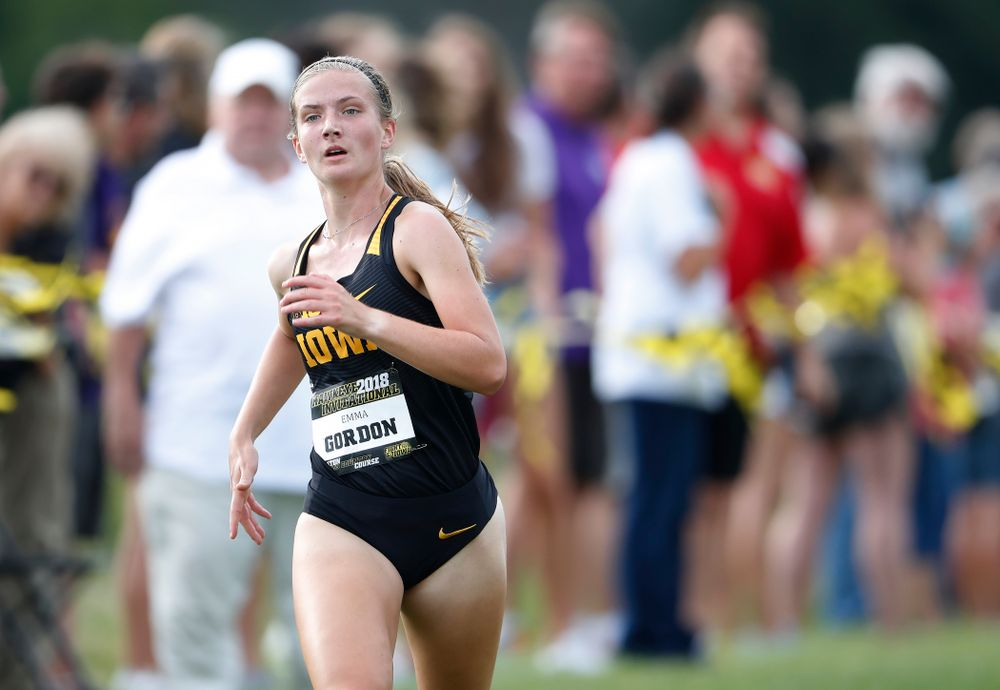 Emma Gordon during the Hawkeye Invitational Friday, August 31, 2018 at the Ashton Cross Country Course.  (Brian Ray/hawkeyesports.com)
