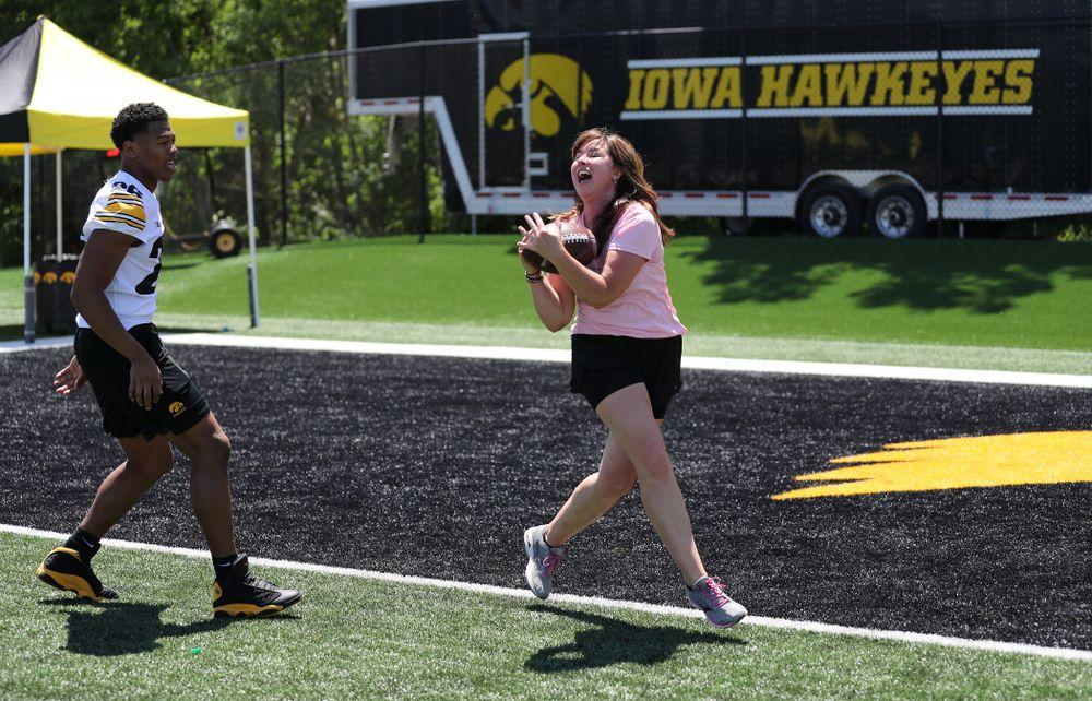 The 2019 Iowa Ladies Football Academy Saturday, June 8, 2019 at Kinnick Stadium. (Brian Ray/hawkeyesports.com)