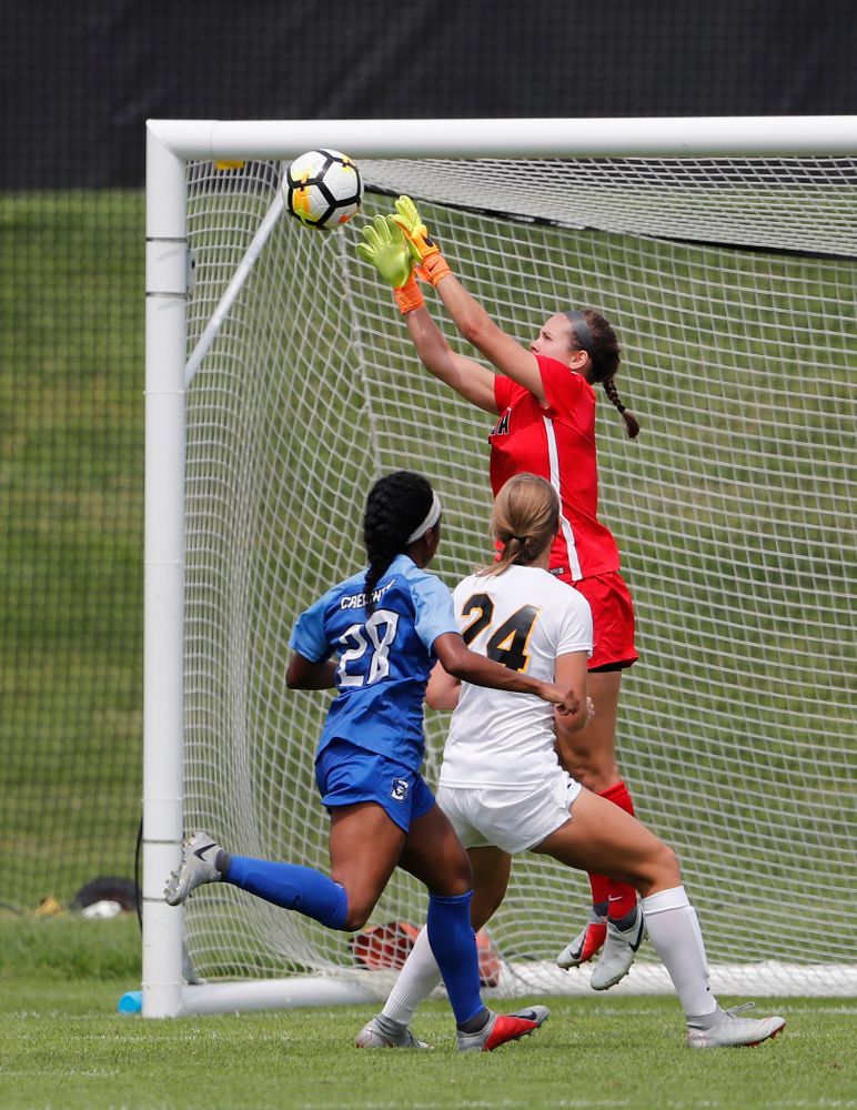 Iowa Hawkeyes Claire Graves (1) against the Creighton Bluejays  Sunday, August 19, 2018 at the Iowa Soccer Complex. (Brian Ray/hawkeyesports.com)