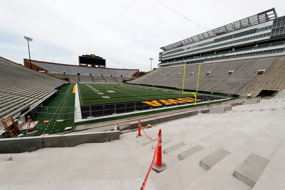 The view from the northeast corner of the lower bowl of the north end zone Wednesday, June 6, 2018 at Kinnick Stadium. (Brian Ray/hawkeyesports.com)