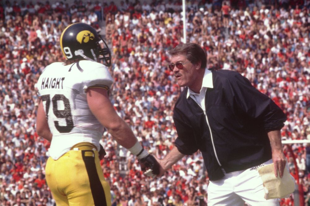 Historic Photos of Hayden Fry from 1995