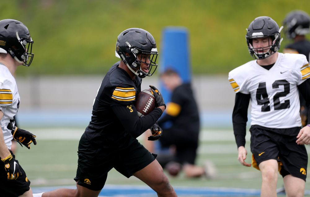 Iowa Hawkeyes wide receiver Tyrone Tracy Jr. (3) during practice Sunday, December 22, 2019 at Mesa College in San Diego. (Brian Ray/hawkeyesports.com)