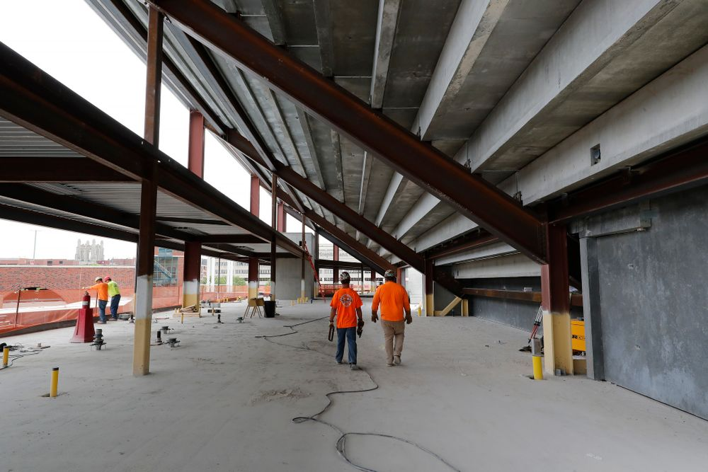 The view looking east on the concourse of the third deck of the new north end zone Wednesday, June 6, 2018 at Kinnick Stadium. (Brian Ray/hawkeyesports.com)