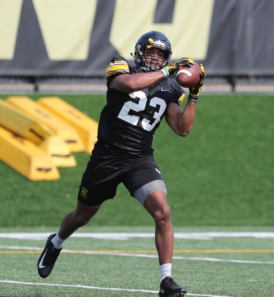 Iowa Hawkeyes wide receiver Dominique Dafney (23) during the third practice of fall camp Sunday, August 5, 2018 at the Kenyon Football Practice Facility. (Brian Ray/hawkeyesports.com)