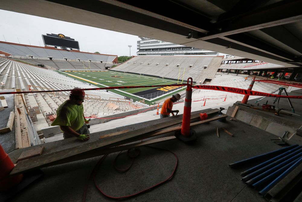 The view from one of the ÔIronmanÕ loge boxs Wednesday, June 6, 2018 at Kinnick Stadium. (Brian Ray/hawkeyesports.com) Wednesday, June 6, 2018 at Kinnick Stadium. (Brian Ray/hawkeyesports.com)
