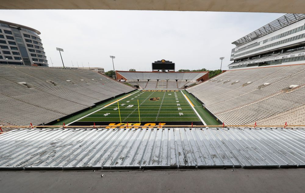 The ADA seating area of the club level of the north end zone Wednesday, June 6, 2018 at Kinnick Stadium. (Brian Ray/hawkeyesports.com)