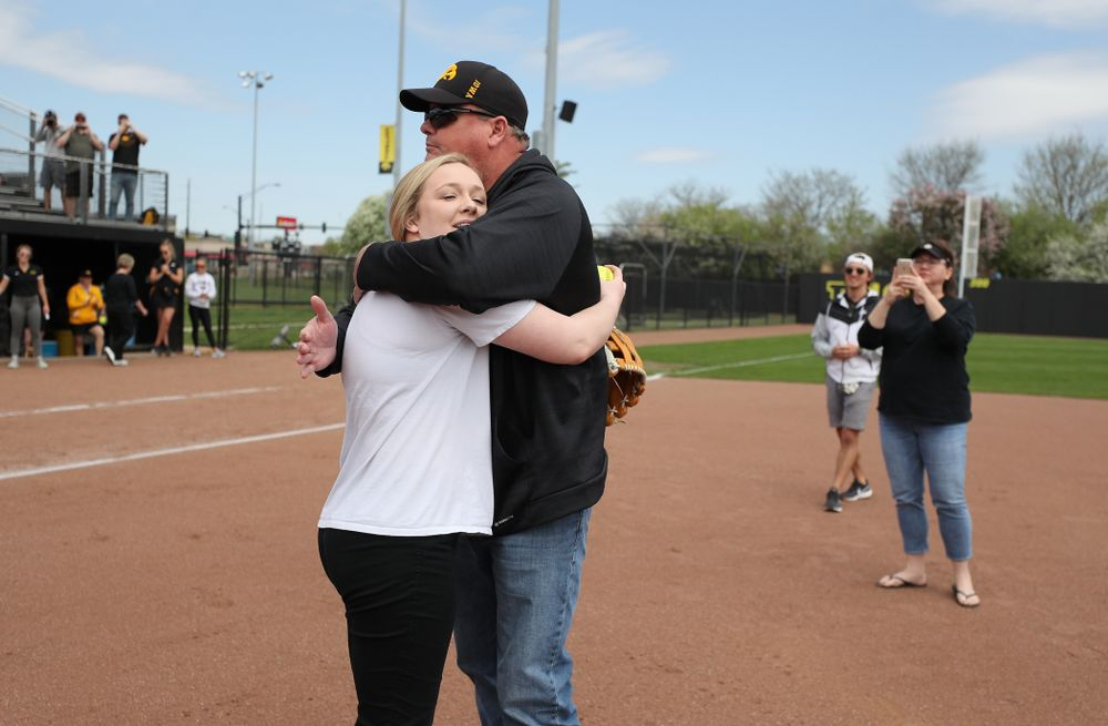Senior Brooke Rozier against the Ohio State Buckeyes on senior day Sunday, May 5, 2019 at Pearl Field. (Brian Ray/hawkeyesports.com)