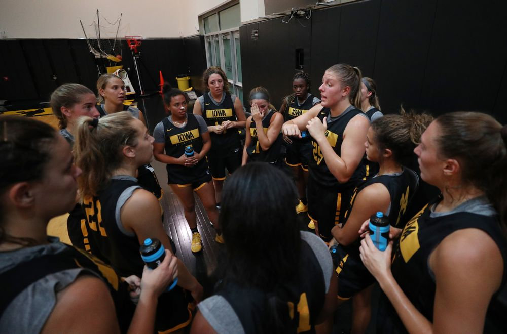 The Iowa WomenÕs Basketball Team participates in the The Program Wednesday, September 18, 2019 at Kinnick Stadium (Brian Ray/hawkeyesports.com)