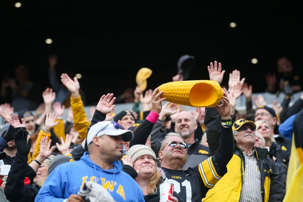 Iowa Hawkeye fans participate in The Wave during Iowa football vs Purdue on Saturday, October 19, 2019 at Kinnick Stadium. (Lily Smith/hawkeyesports.com)
