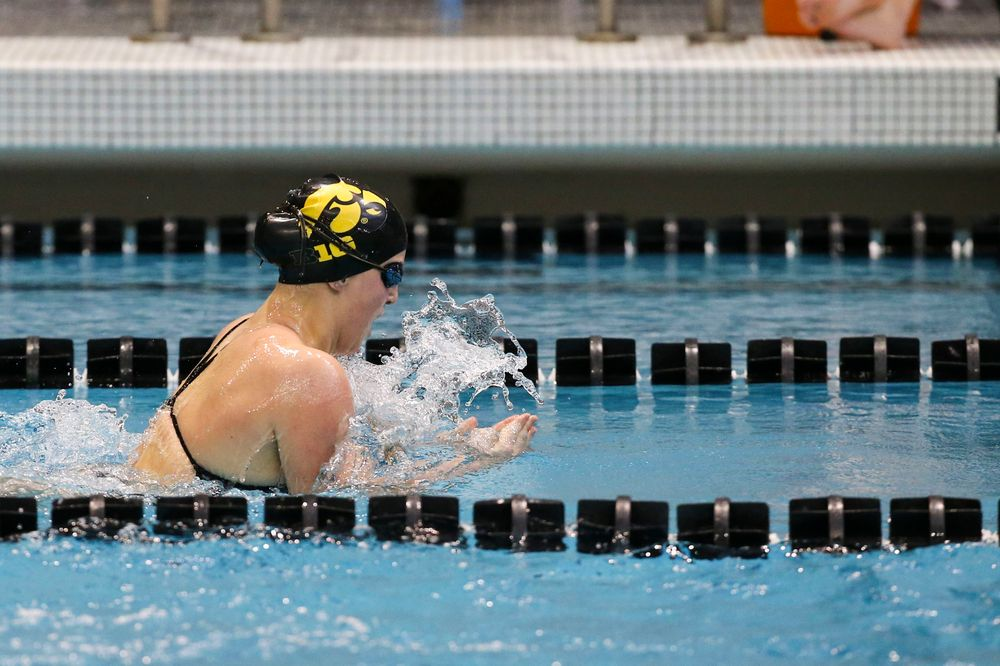 Iowa's Christina Crane during Iowa swim and dive vs Minnesota on Saturday, October 26, 2019 at the Campus Wellness and Recreation Center. (Lily Smith/hawkeyesports.com)
