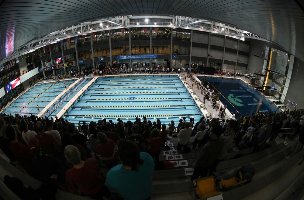 during the finals of the second day at the 2019 Big Ten Swimming and Diving Championships Thursday, February 28, 2019 at the Campus Wellness and Recreation Center. (Brian Ray/hawkeyesports.com)