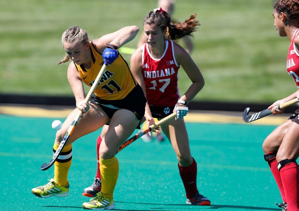 Iowa Hawkeyes Katie Birch (11) against Indiana Sunday, September 16, 2018 at Grant Field. (Brian Ray/hawkeyesports.com)