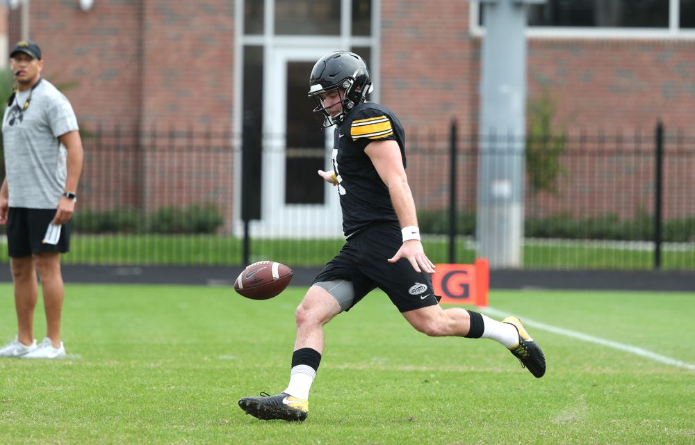 Iowa Hawkeyes punter Colten Rastetter (7) as the team prepares for the Outback Bowl Saturday, December 29, 2018 at Tampa University. (Brian Ray/hawkeyesports.com)