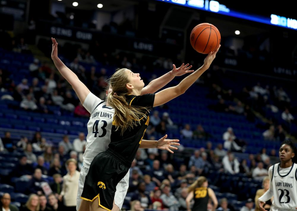 Iowa Hawkeyes Logan Cook (23) against the Penn State Nittany Lions Thursday, January 30, 2020 at the Bryce Jordan Center. (Brian Ray/hawkeyesports.com)