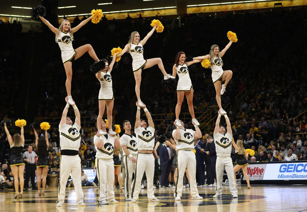 The Iowa Cheerleaders against the Michigan State Spartans Thursday, January 24, 2019 at Carver-Hawkeye Arena. (Brian Ray/hawkeyesports.com)