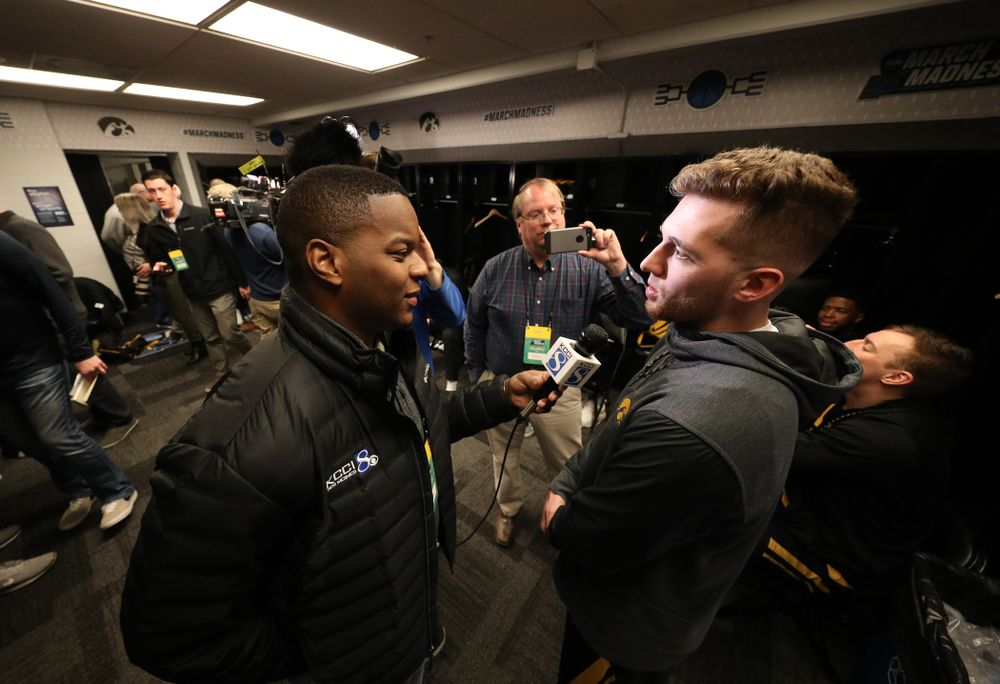Iowa Hawkeyes guard Jordan Bohannon (3) during press availability and practice before the first round of the 2019 NCAA Men's Basketball Tournament Thursday, March 21, 2019 at Nationwide Arena in Columbus, Ohio. (Brian Ray/hawkeyesports.com)