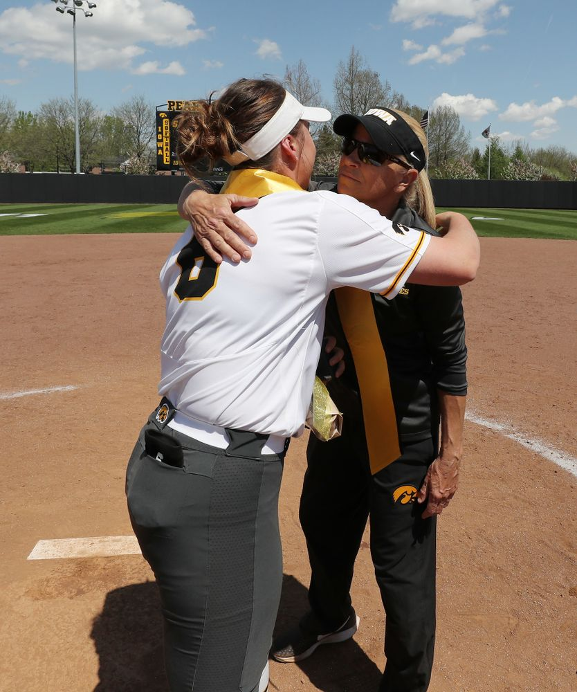 Iowa Hawkeyes Erin Riding (6) during senior day festivities following their game against the Ohio State Buckeyes Sunday, May 5, 2019 at Pearl Field. (Brian Ray/hawkeyesports.com)ic