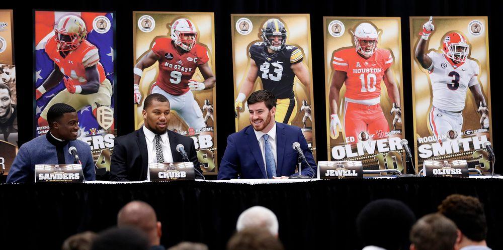 Greg Sanders, VMI; Bradley Chubb, North Carolina State; Josey Jewell, Iowa