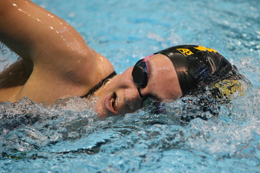 Alleyna Thomas during Iowa women's swimming and diving vs Rutgers on Friday, November 8, 2019 at the Campus Wellness and Recreation Center. (Lily Smith/hawkeyesports.com)