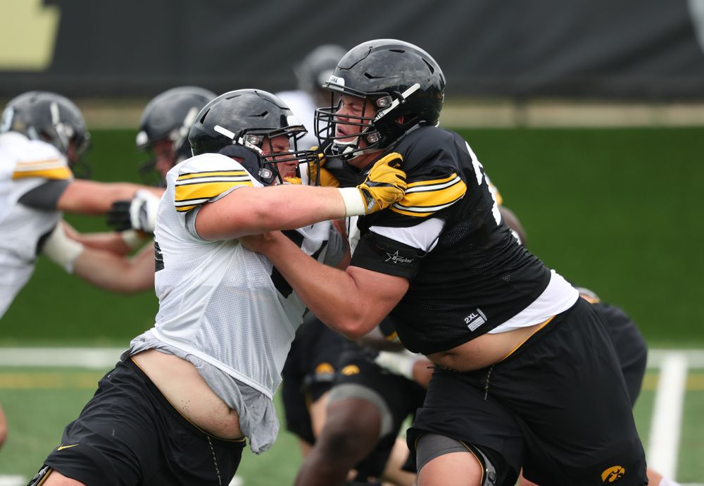 during practice No. 4 of Fall Camp Monday, August 6, 2018 at the Hansen Football Performance Center. (Brian Ray/hawkeyesports.com)