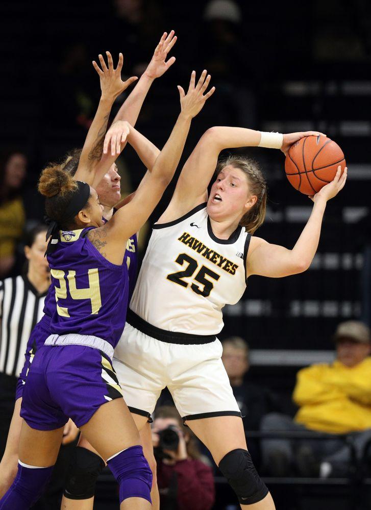 Iowa Hawkeyes forward/center Monika Czinano (25) against North Alabama Thursday, November 14, 2019 at Carver-Hawkeye Arena. (Brian Ray/hawkeyesports.com)