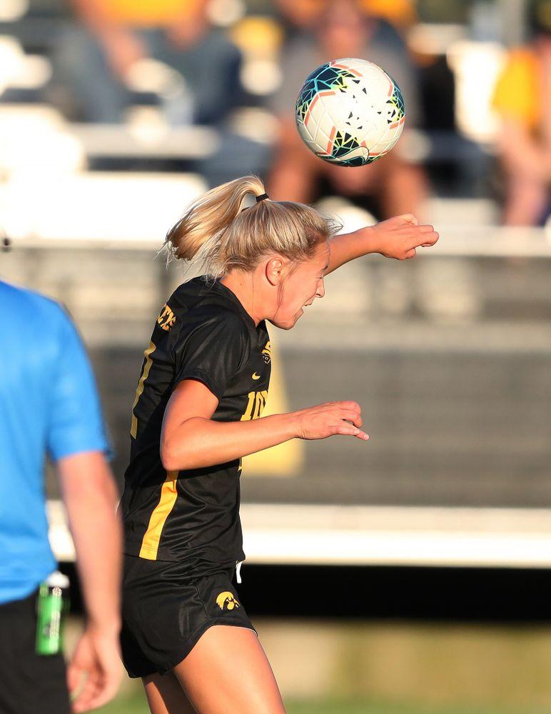 Iowa Hawkeyes midfielder Hailey Rydberg (2) against Western Michigan Thursday, August 22, 2019 at the Iowa Soccer Complex. (Brian Ray/hawkeyesports.com)