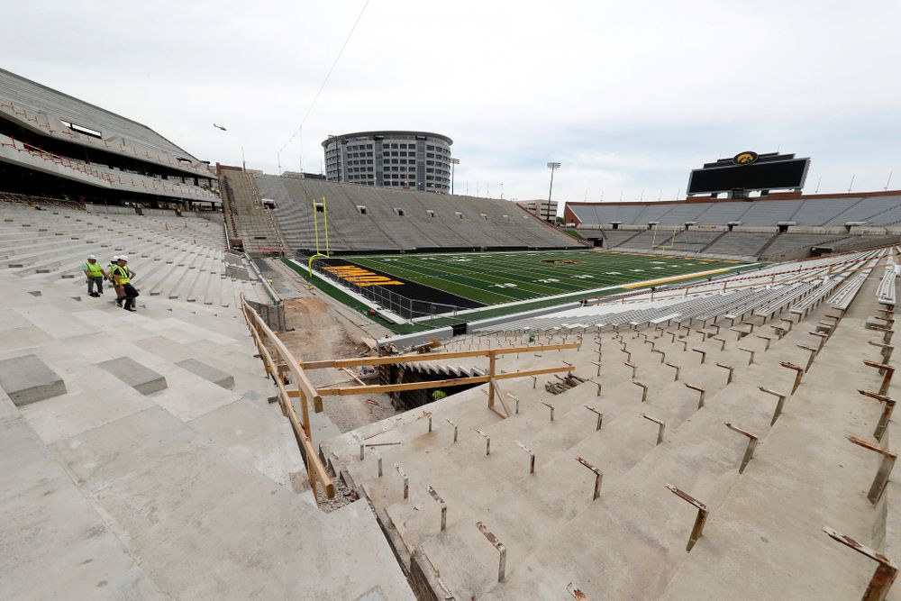 The view from the northwest corner of the lower bowl of the north end zone Wednesday, June 6, 2018 at Kinnick Stadium. (Brian Ray/hawkeyesports.com)