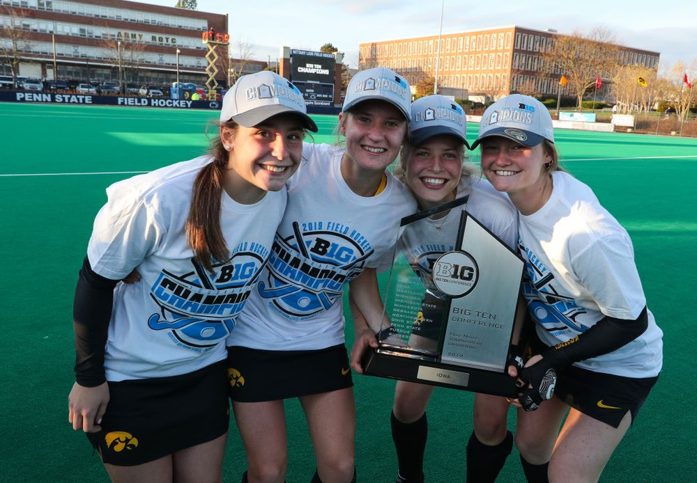 The Iowa Field Hockey freshman following their game against Penn State in the 2019 Big Ten Field Hockey Tournament Championship Game Sunday, November 10, 2019 in State College. (Brian Ray/hawkeyesports.com)