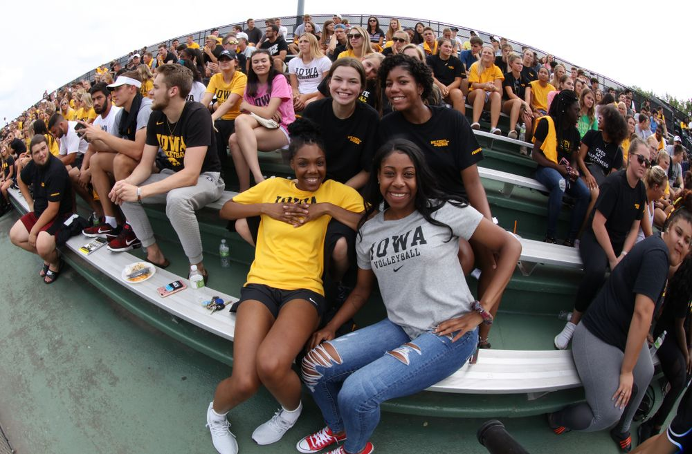 The Iowa Volleyball Team during the Iowa Student Athlete Kickoff Kickball game  Sunday, August 19, 2018 at Duane Banks Field. (Brian Ray/hawkeyesports.com)