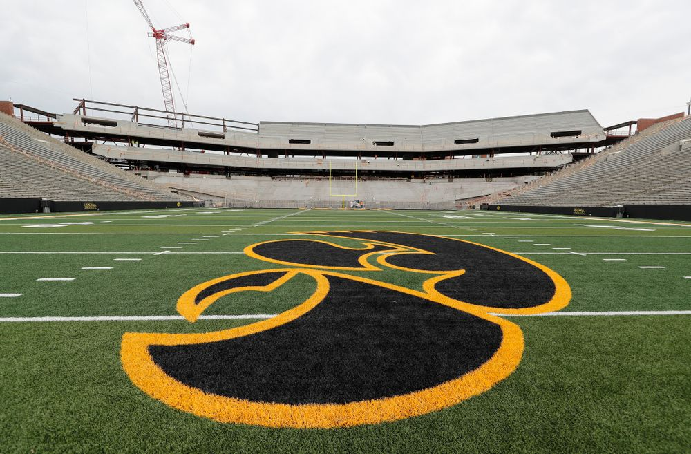 The mid-field view of the north end zone Wednesday, June 6, 2018 at Kinnick Stadium. (Brian Ray/hawkeyesports.com)