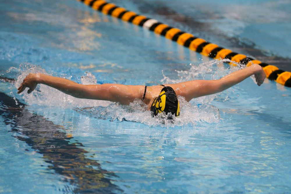Iowa's Grace Reeder during Iowa swim and dive vs Minnesota on Saturday, October 26, 2019 at the Campus Wellness and Recreation Center. (Lily Smith/hawkeyesports.com)